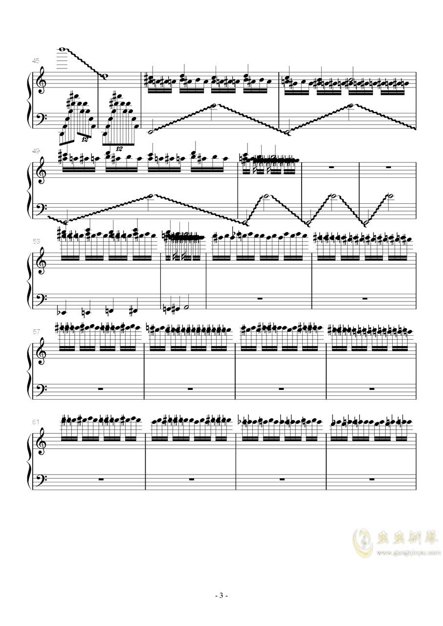 火星练习曲 Op.2 No.6钢琴谱 第3页