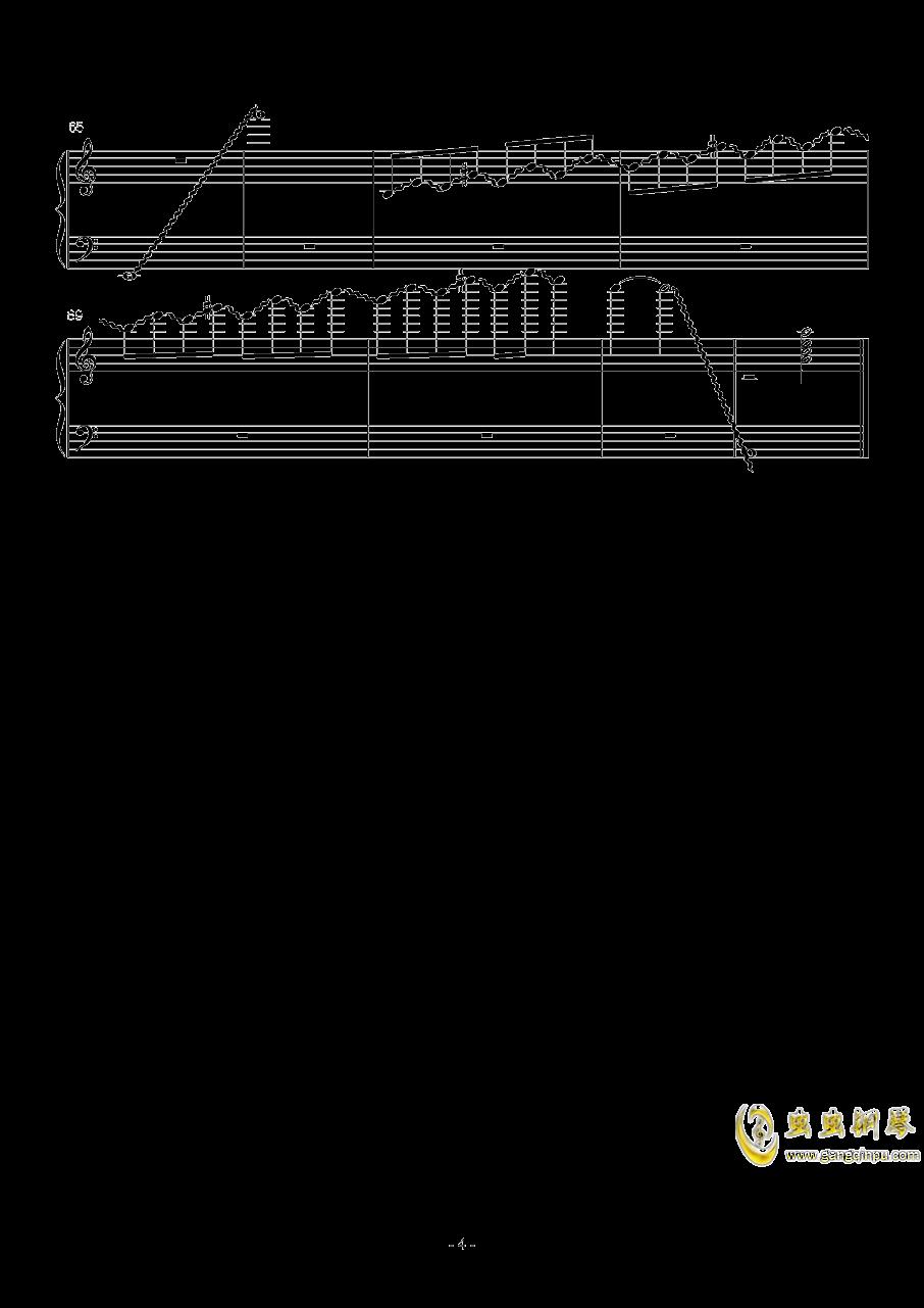 火星练习曲 Op.2 No.6钢琴谱 第4页