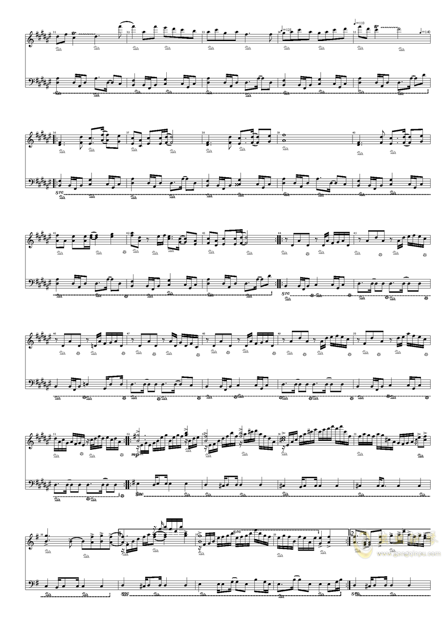上海红茶馆钢琴谱 第2页