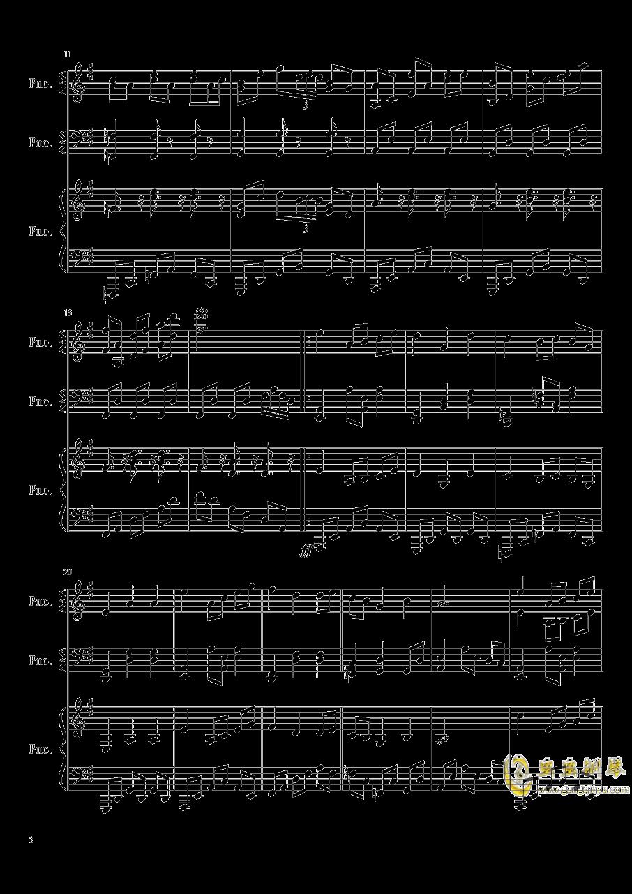 妖怪之山钢琴谱 第2页