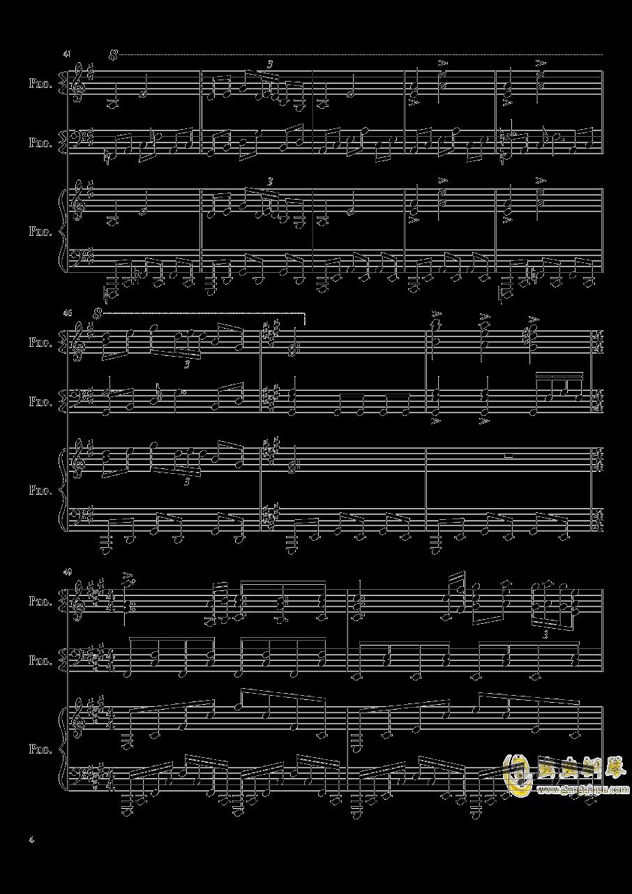 妖怪之山钢琴谱 第4页