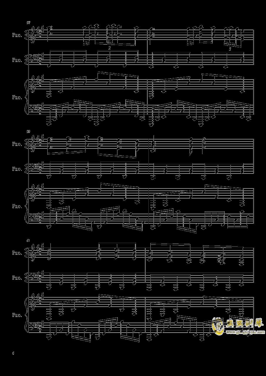 妖怪之山钢琴谱 第6页