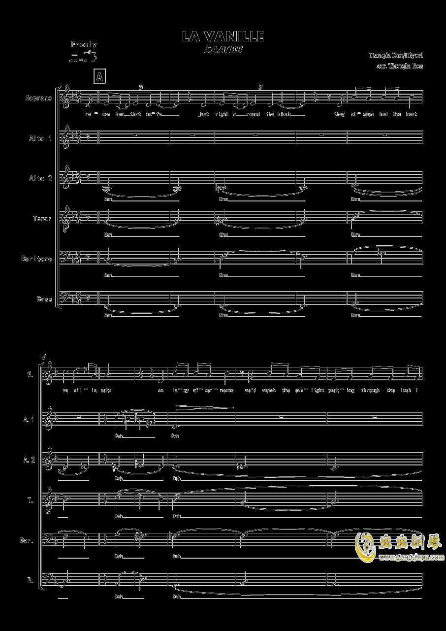 La Vanille - A cappella钢琴谱 第1页