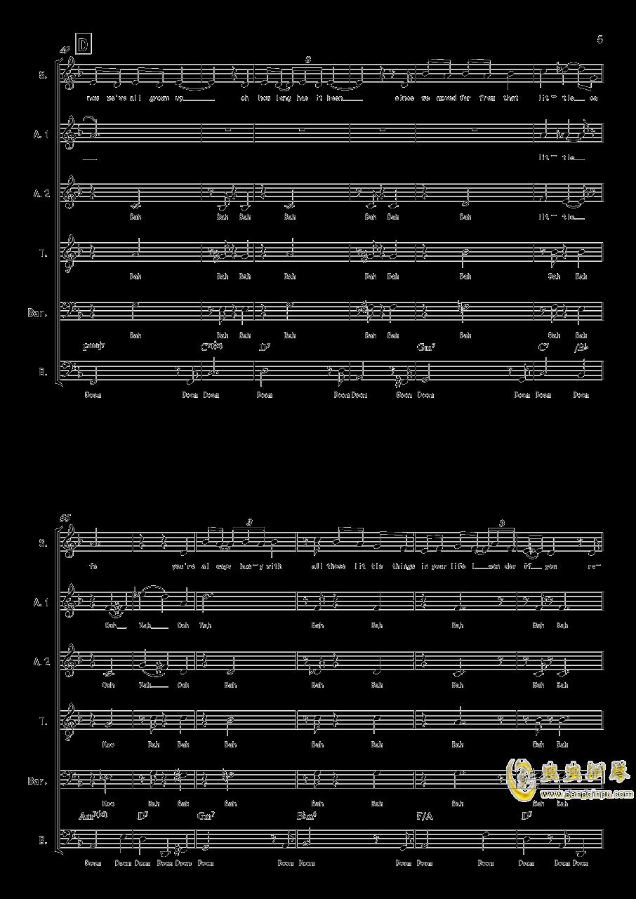 La Vanille - A cappella钢琴谱 第5页