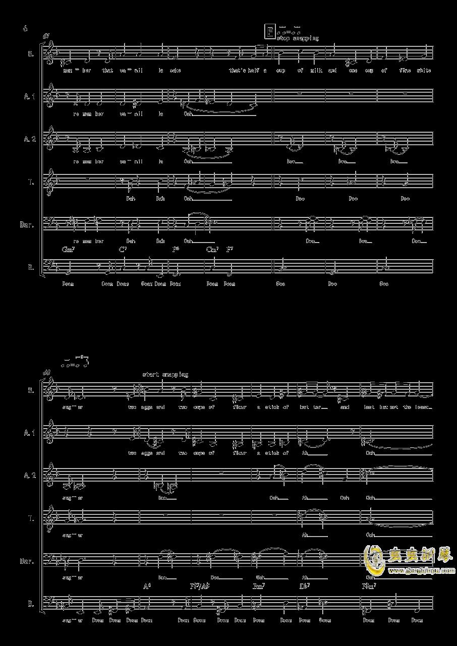 La Vanille - A cappella钢琴谱 第6页