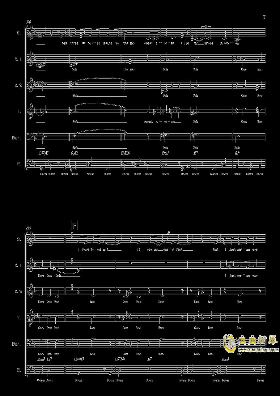 La Vanille - A cappella钢琴谱 第7页