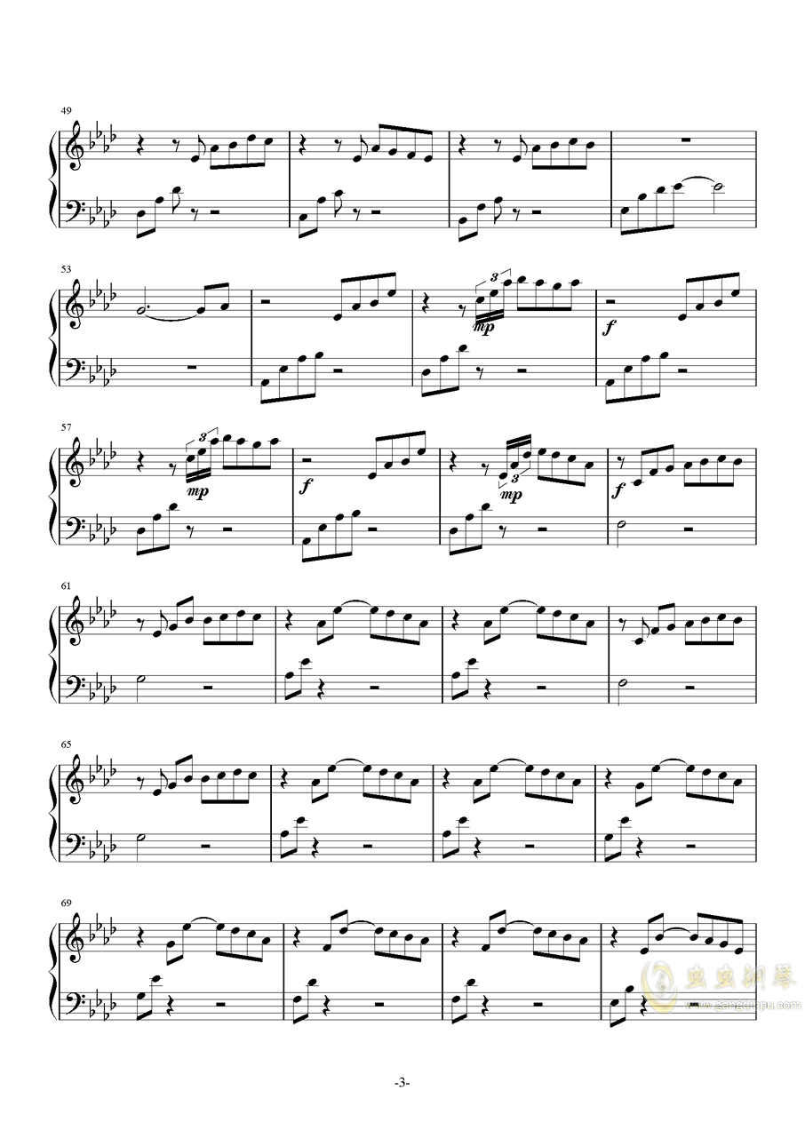 Awaken the Dawn钢琴谱 第3页