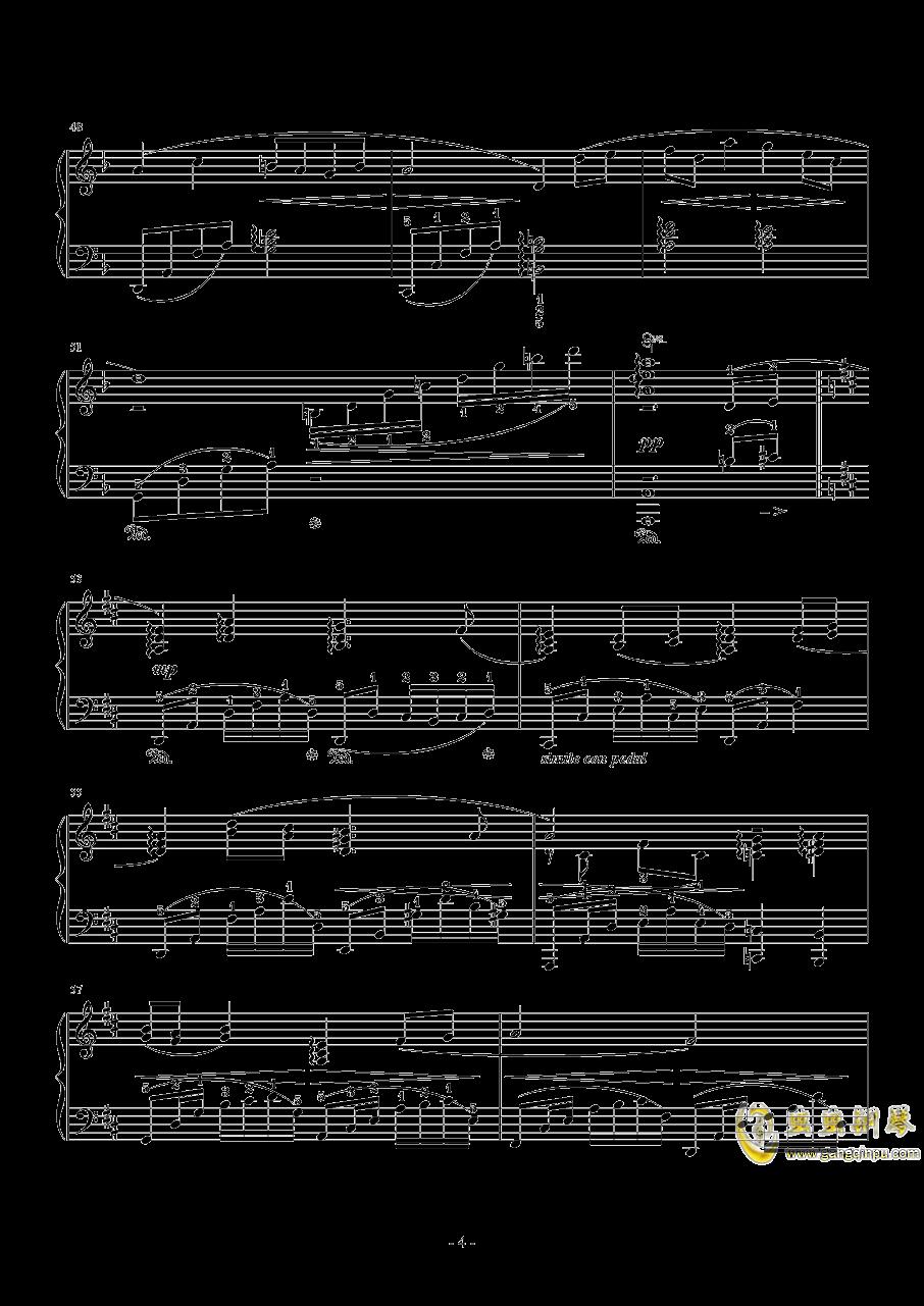 亲爱的朋友们钢琴谱 第4页