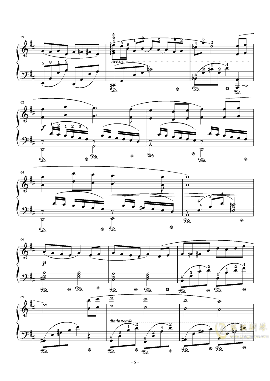 亲爱的朋友们钢琴谱 第5页