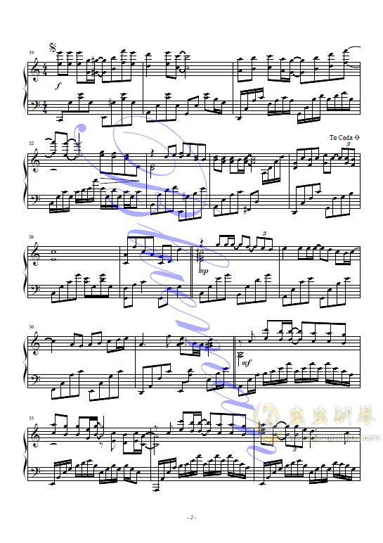 甘心替代你钢琴谱 第2页