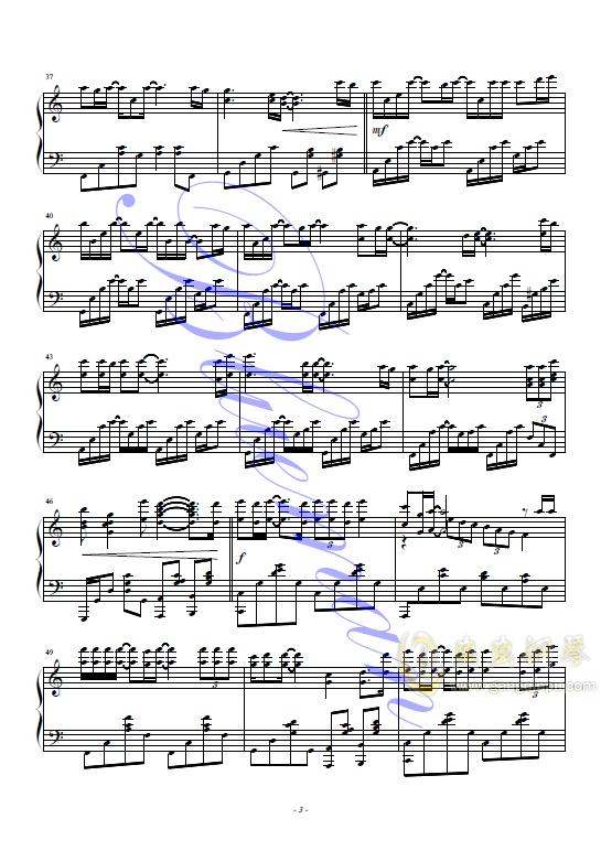 父亲写的散文诗钢琴谱 第3页