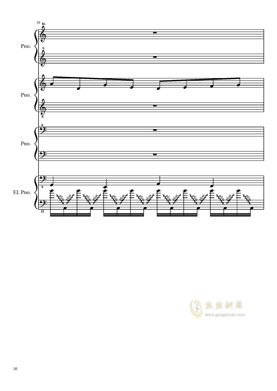 (毁电脑系列)黑乐谱钢琴谱 第20页