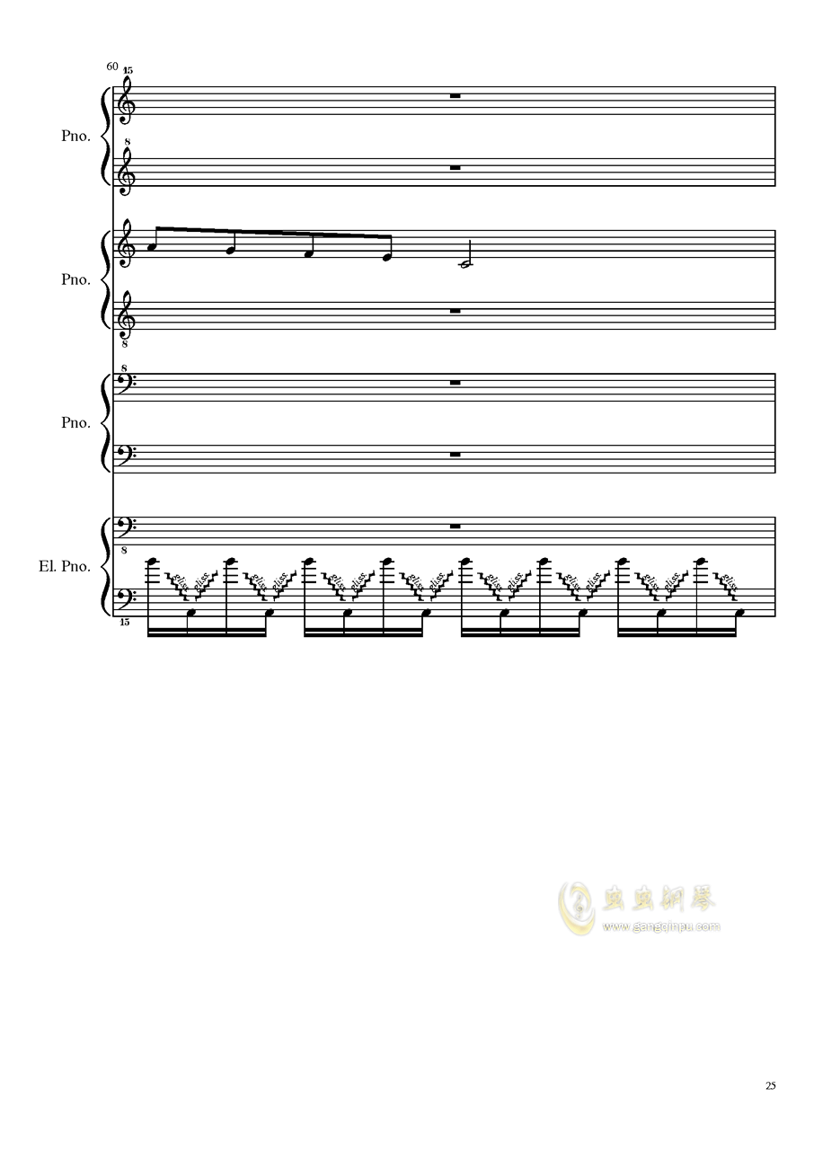 (毁电脑系列)黑乐谱钢琴谱 第25页