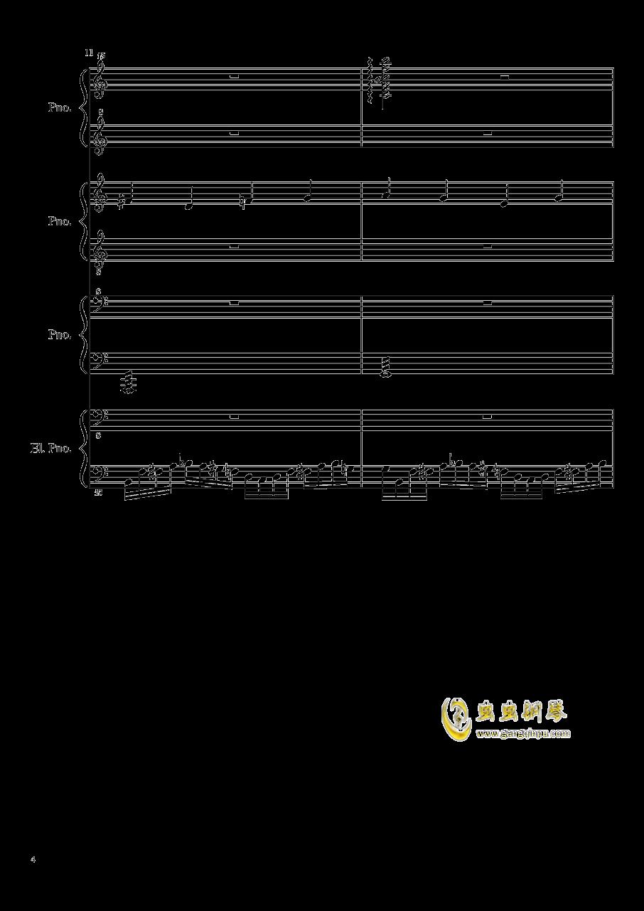 (毁电脑系列)黑乐谱钢琴谱 第4页