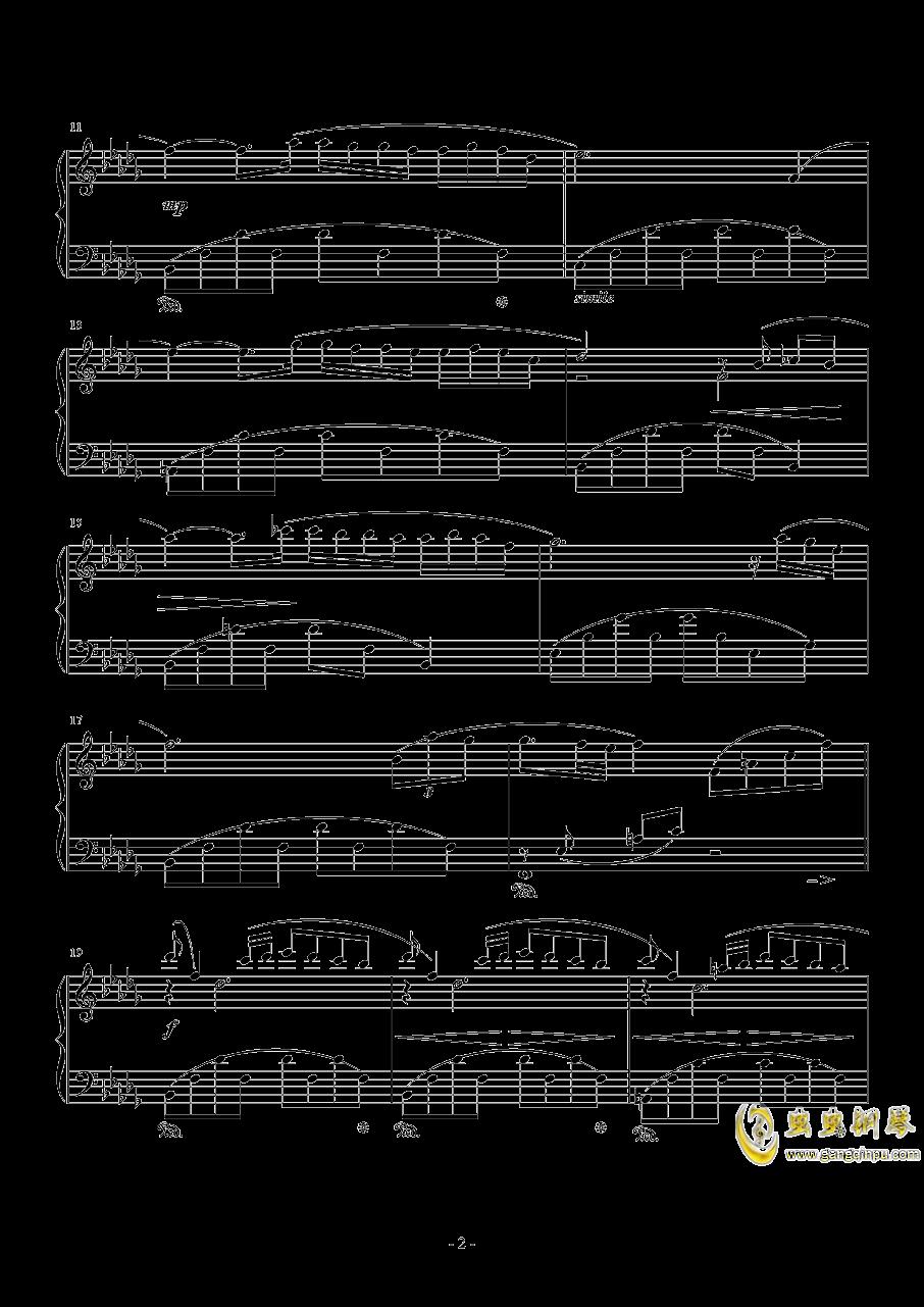 秋日私语钢琴谱 第2页