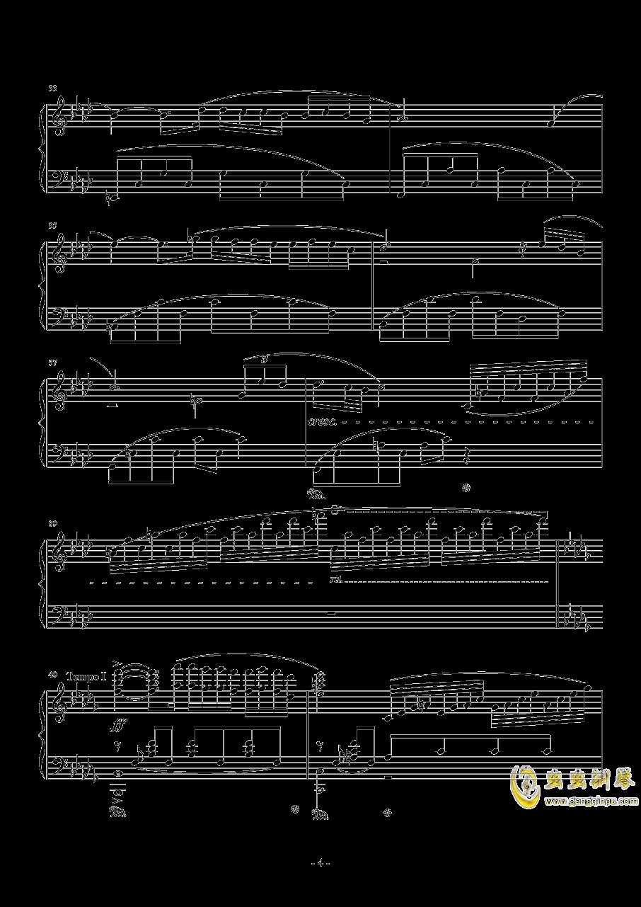 秋日私语钢琴谱 第4页