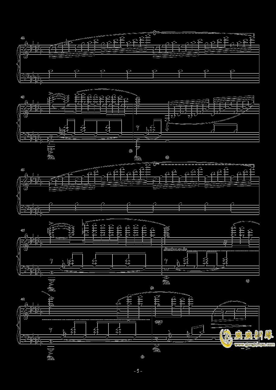 秋日私语钢琴谱 第5页