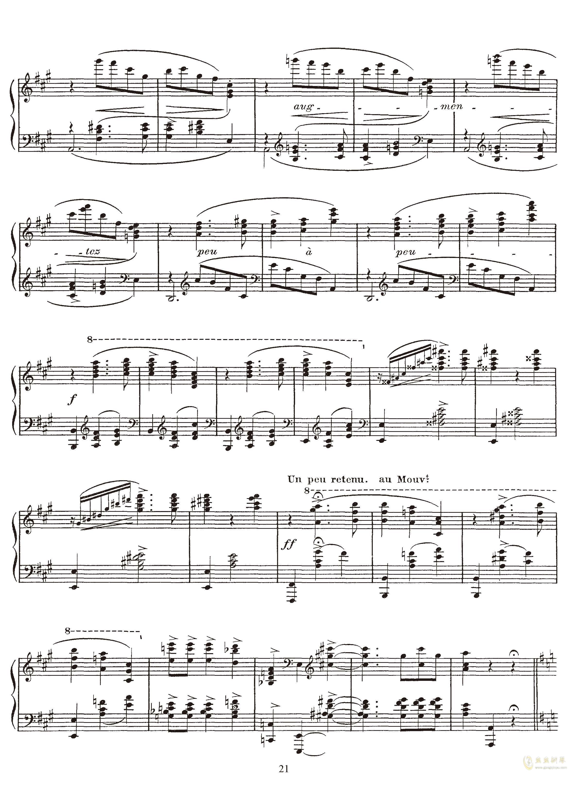 高贵而伤感的圆舞曲钢琴谱 第21页