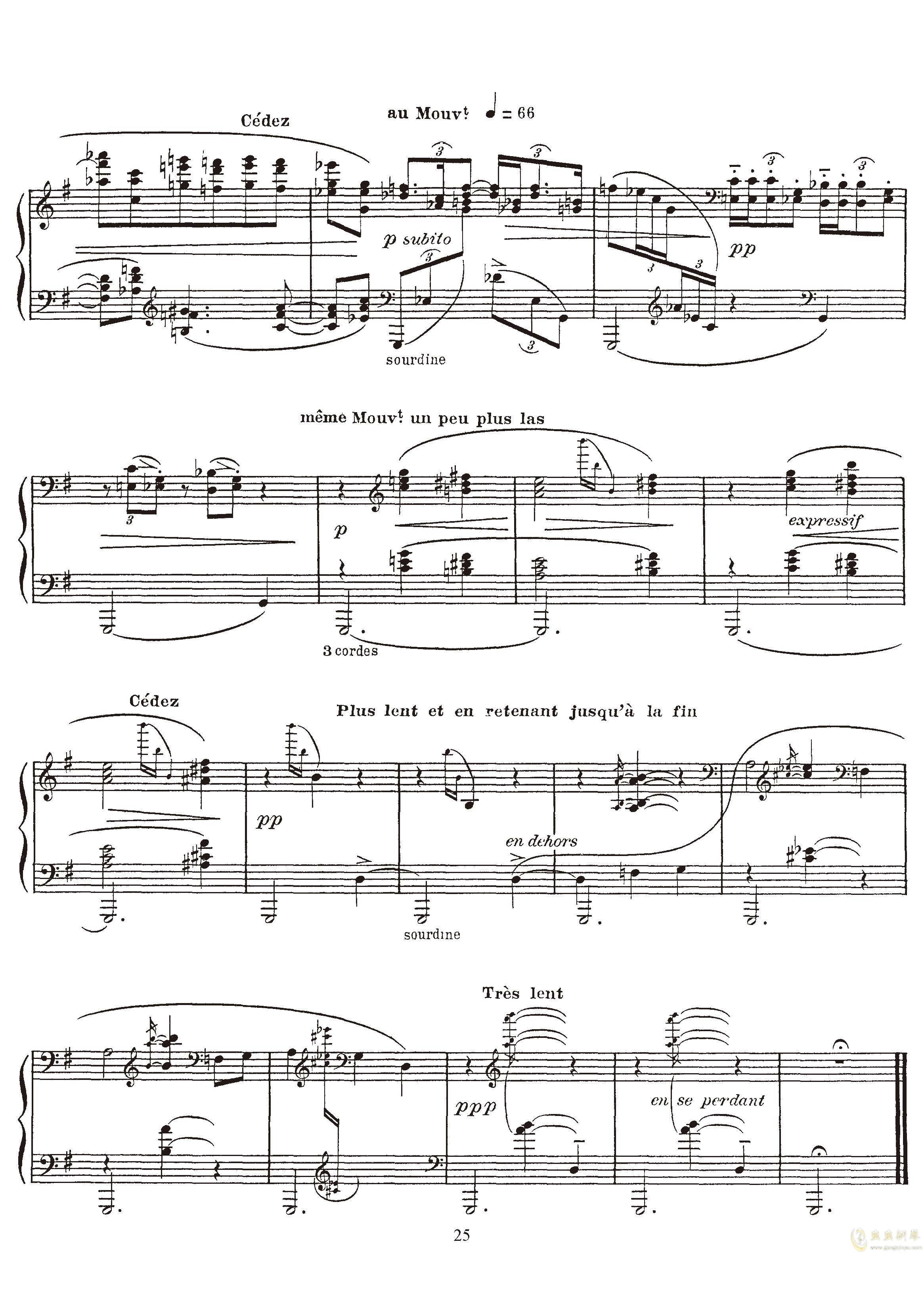高贵而伤感的圆舞曲钢琴谱 第25页