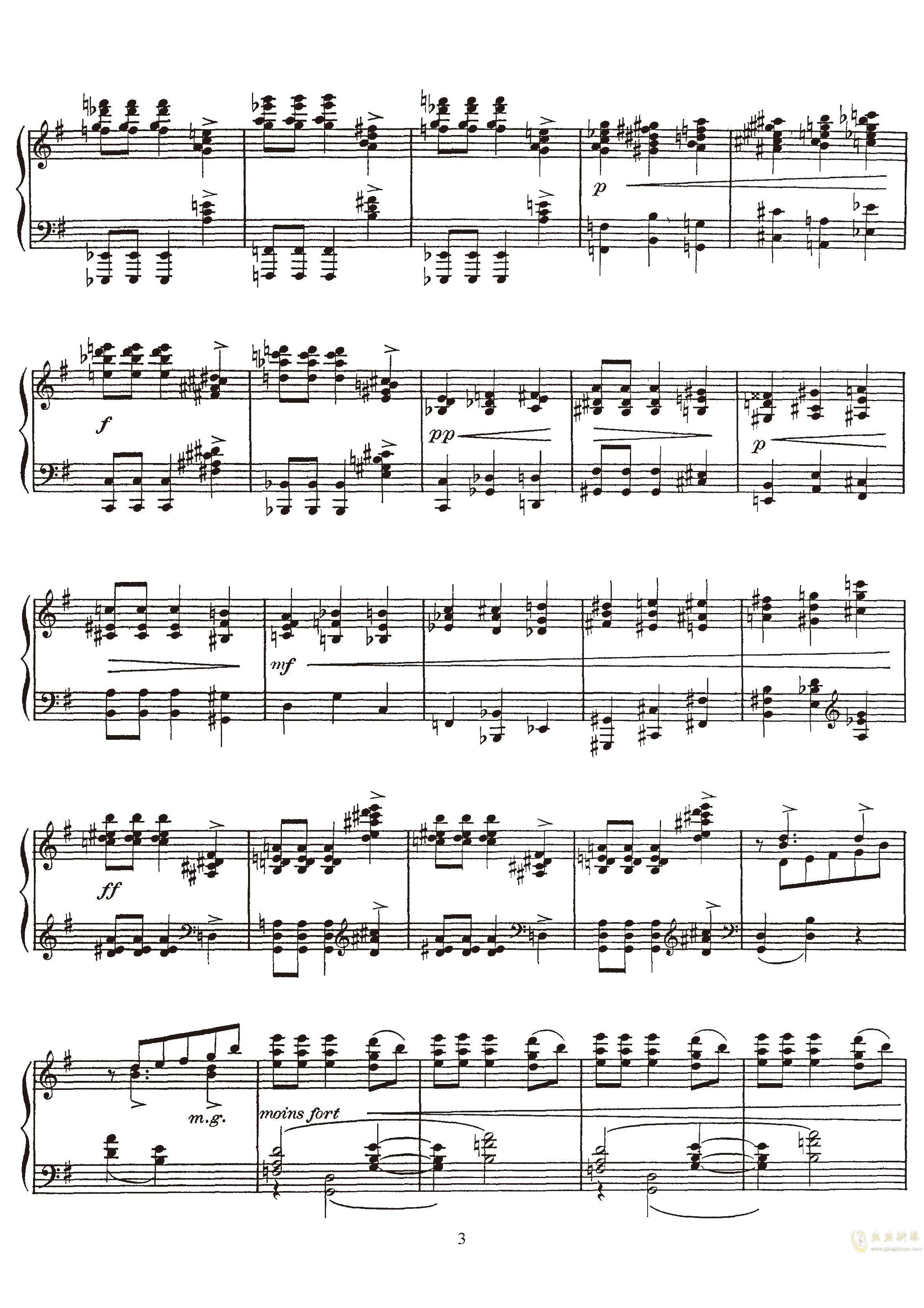 高贵而伤感的圆舞曲钢琴谱 第3页