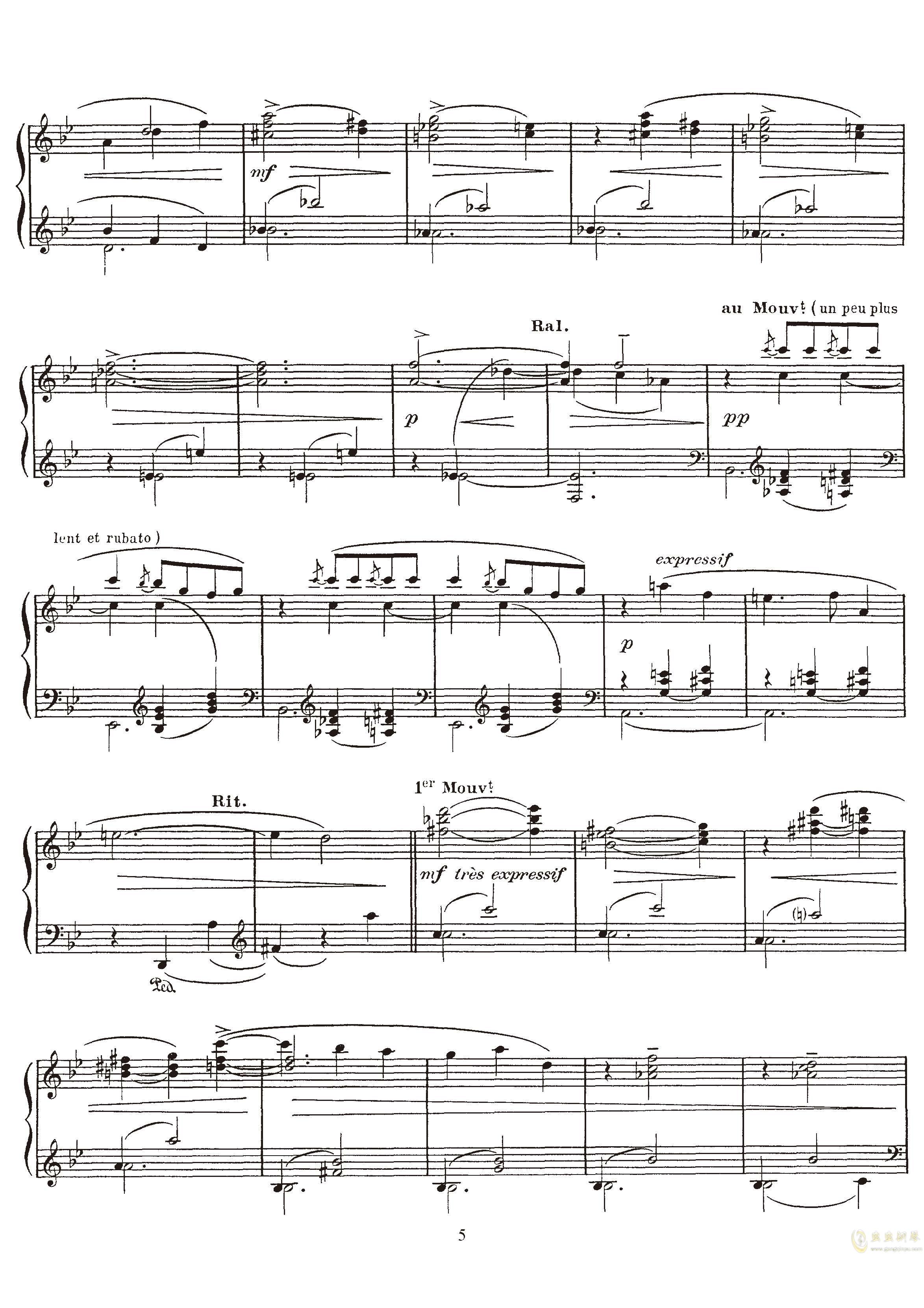 高贵而伤感的圆舞曲钢琴谱 第5页