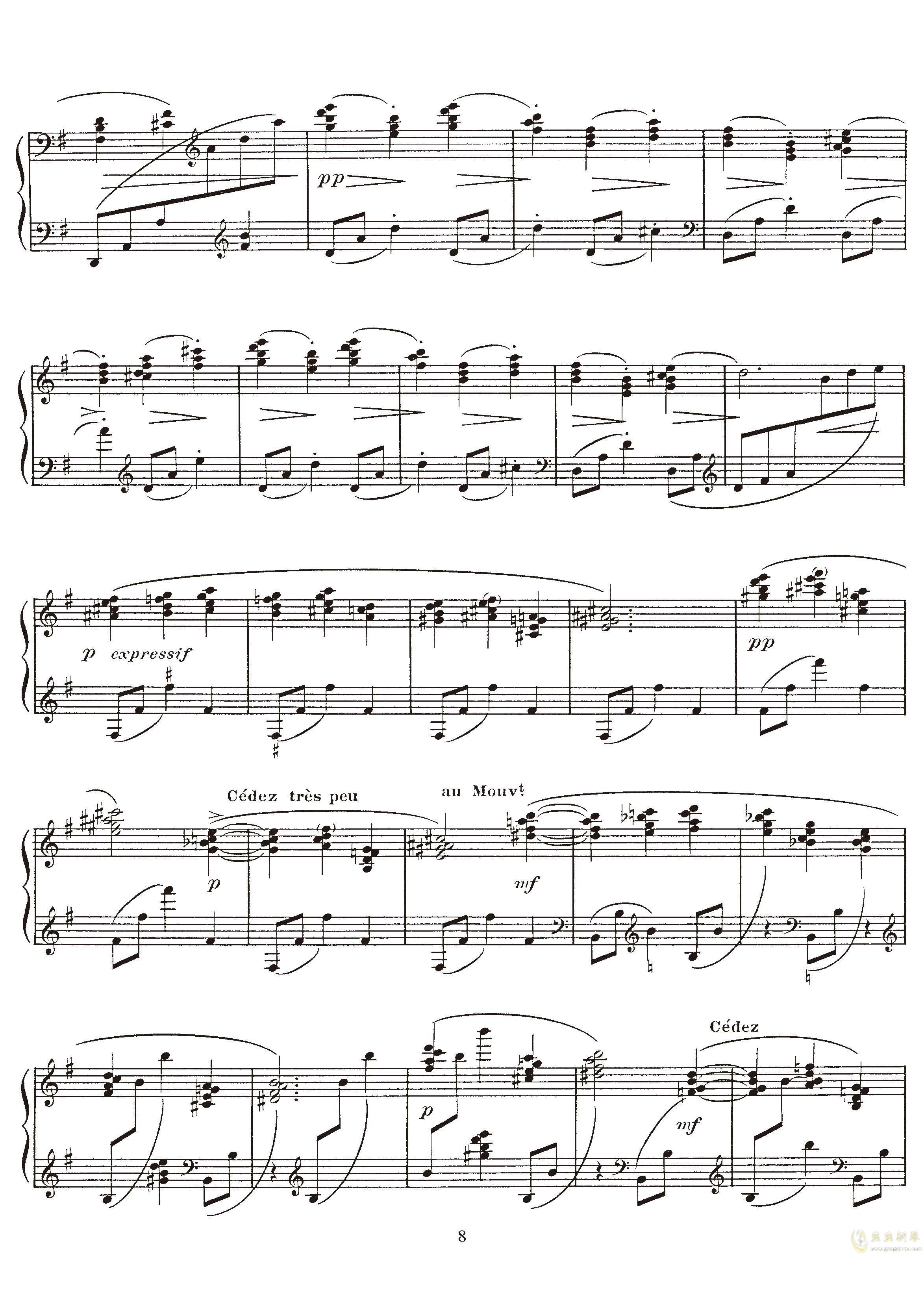 高贵而伤感的圆舞曲钢琴谱 第8页