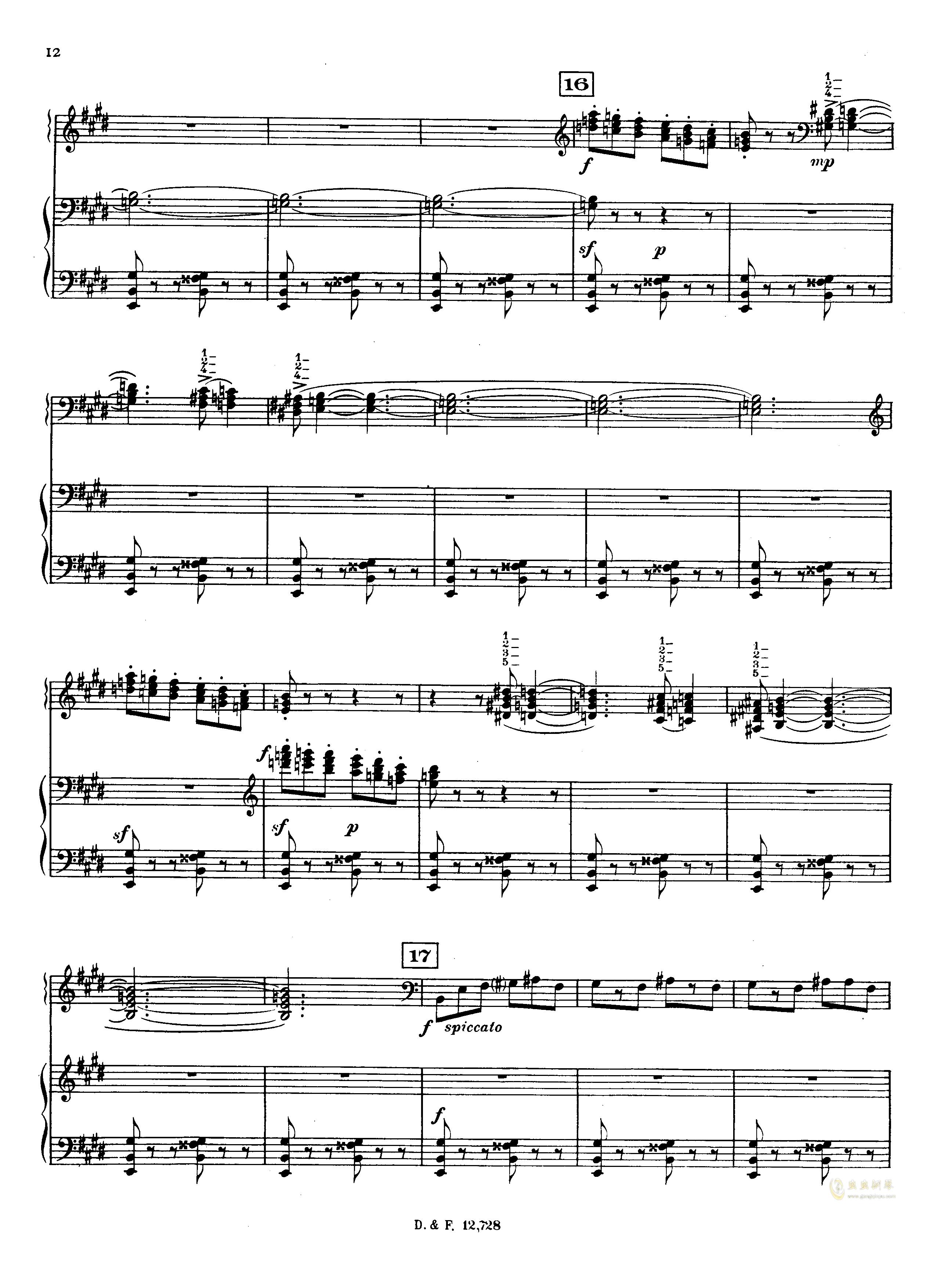 左手钢琴协奏曲钢琴谱 第12页