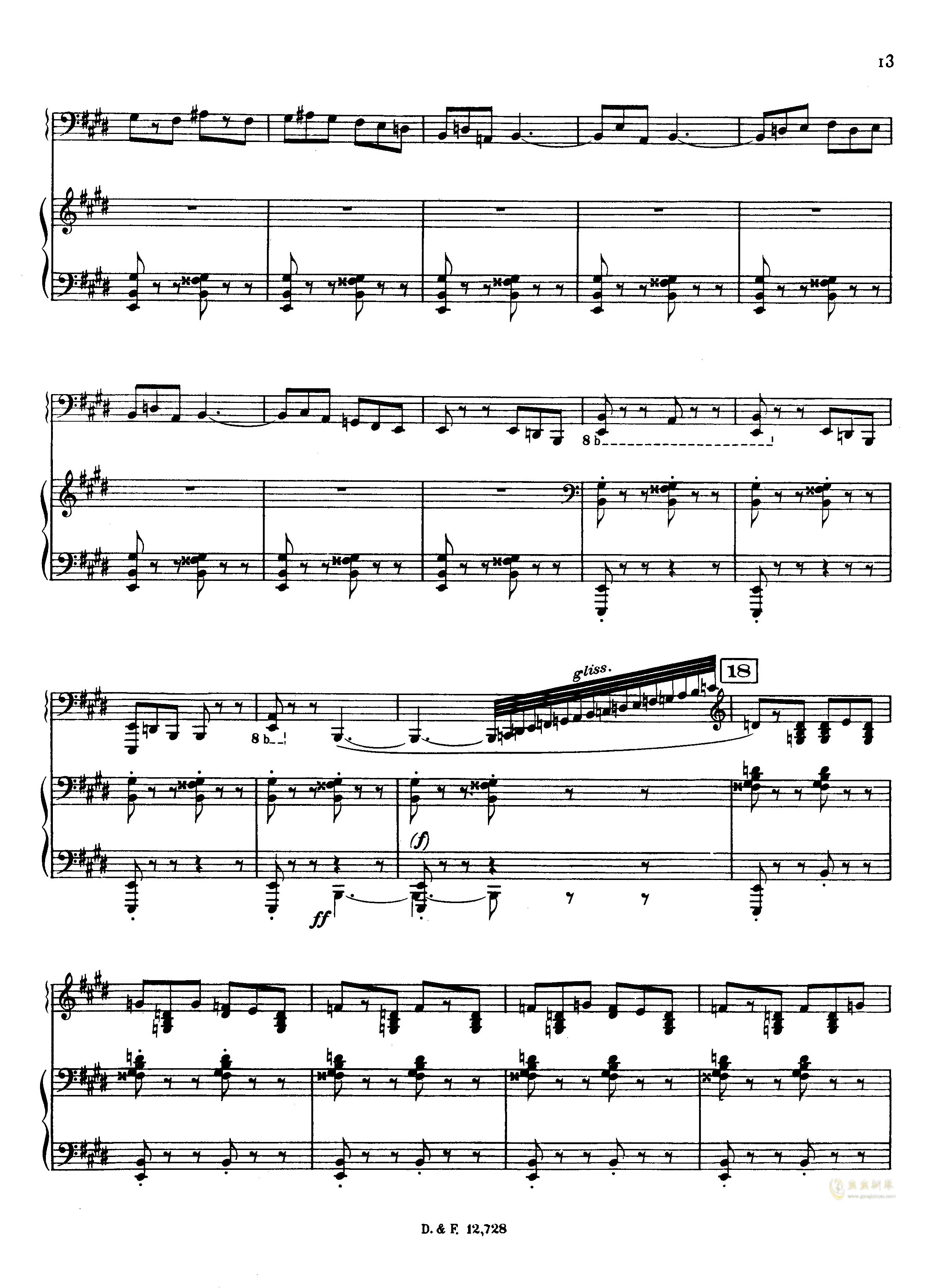 左手钢琴协奏曲钢琴谱 第13页