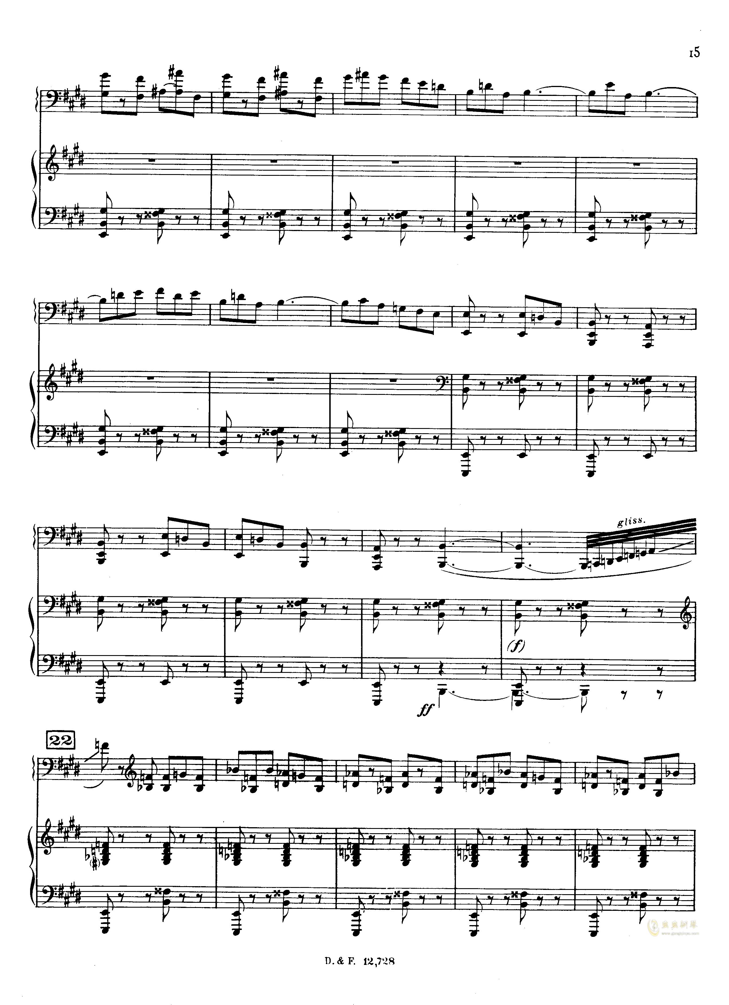 左手钢琴协奏曲钢琴谱 第15页