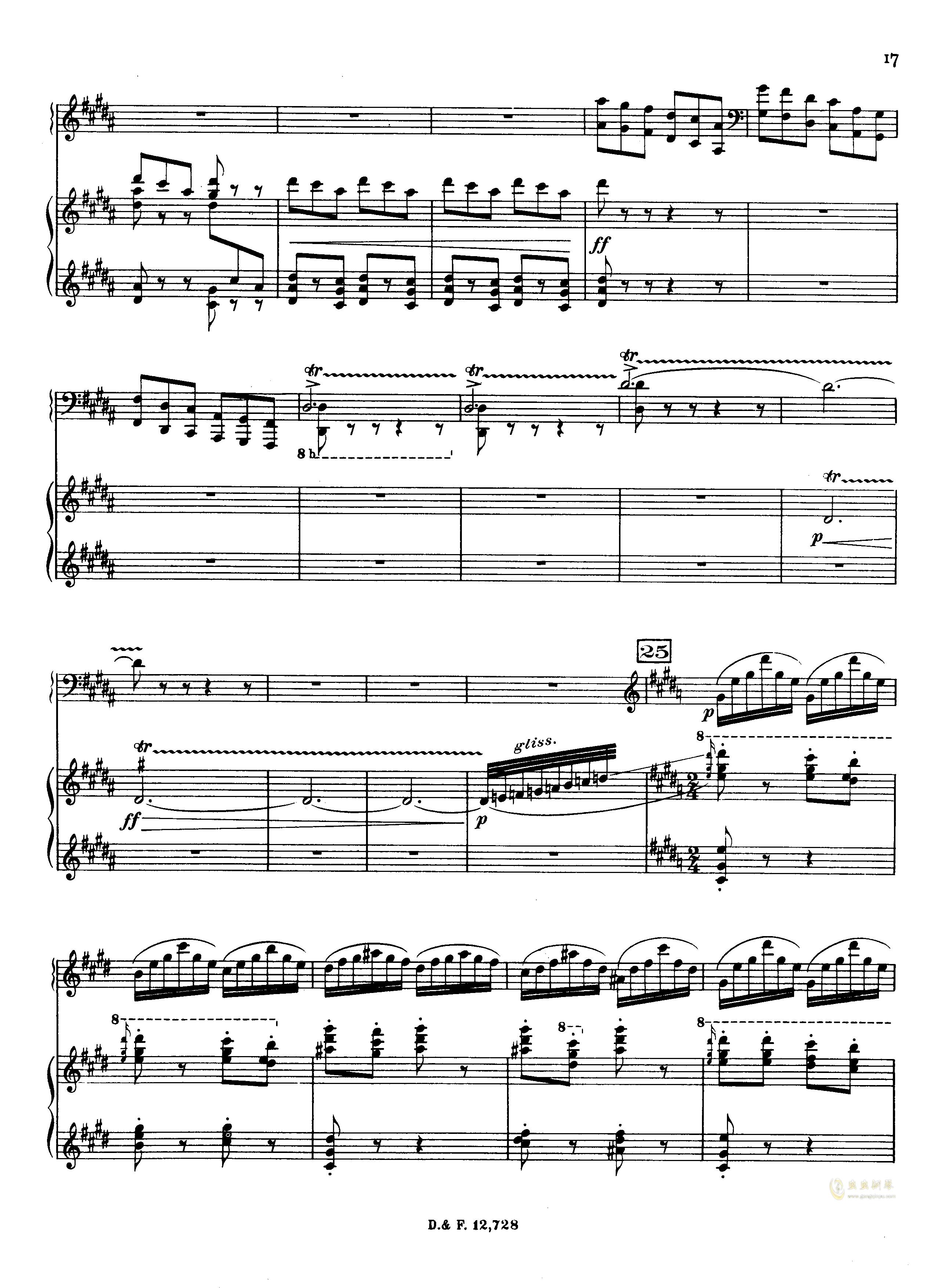 左手钢琴协奏曲钢琴谱 第17页