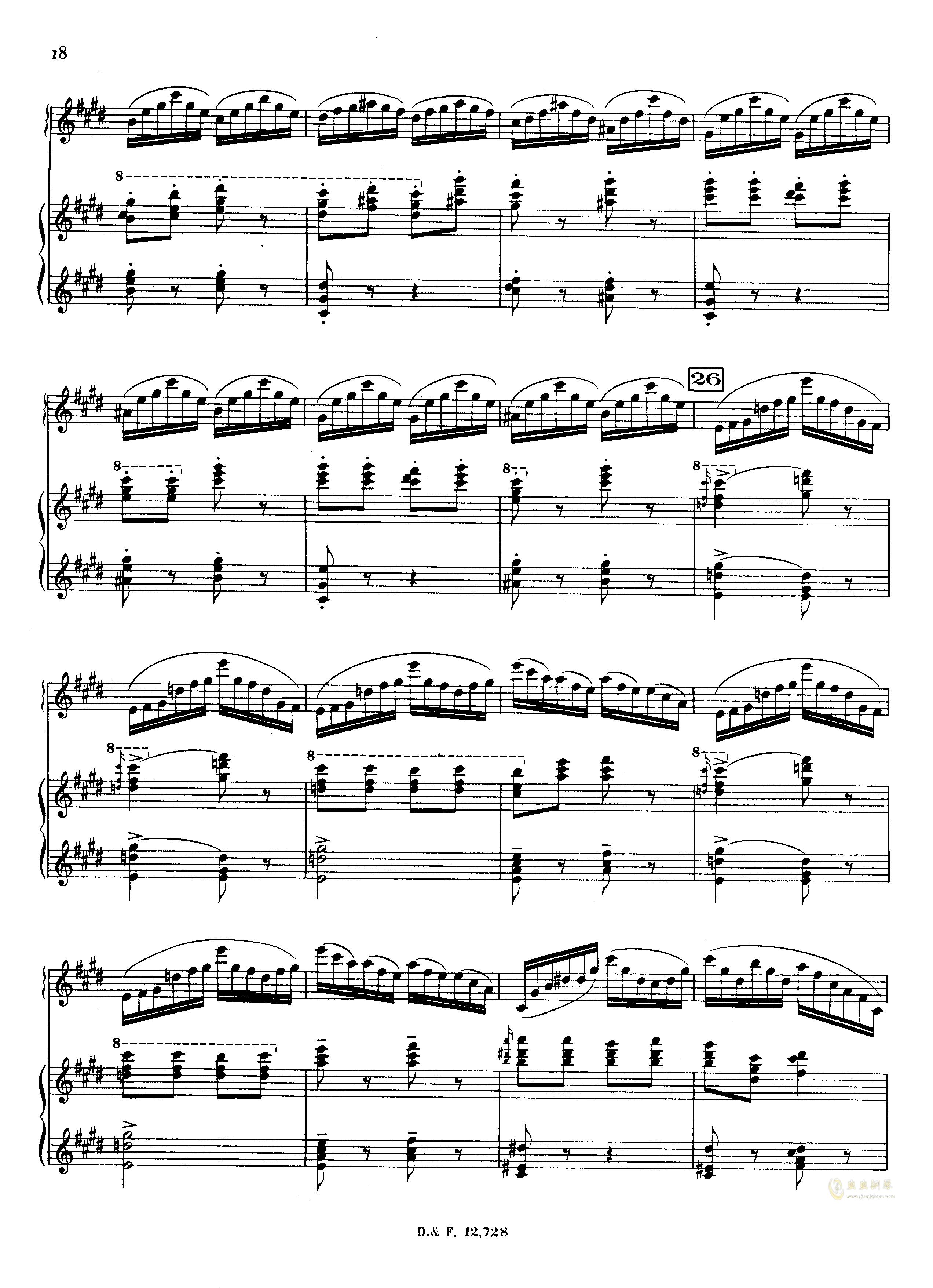 左手钢琴协奏曲钢琴谱 第18页