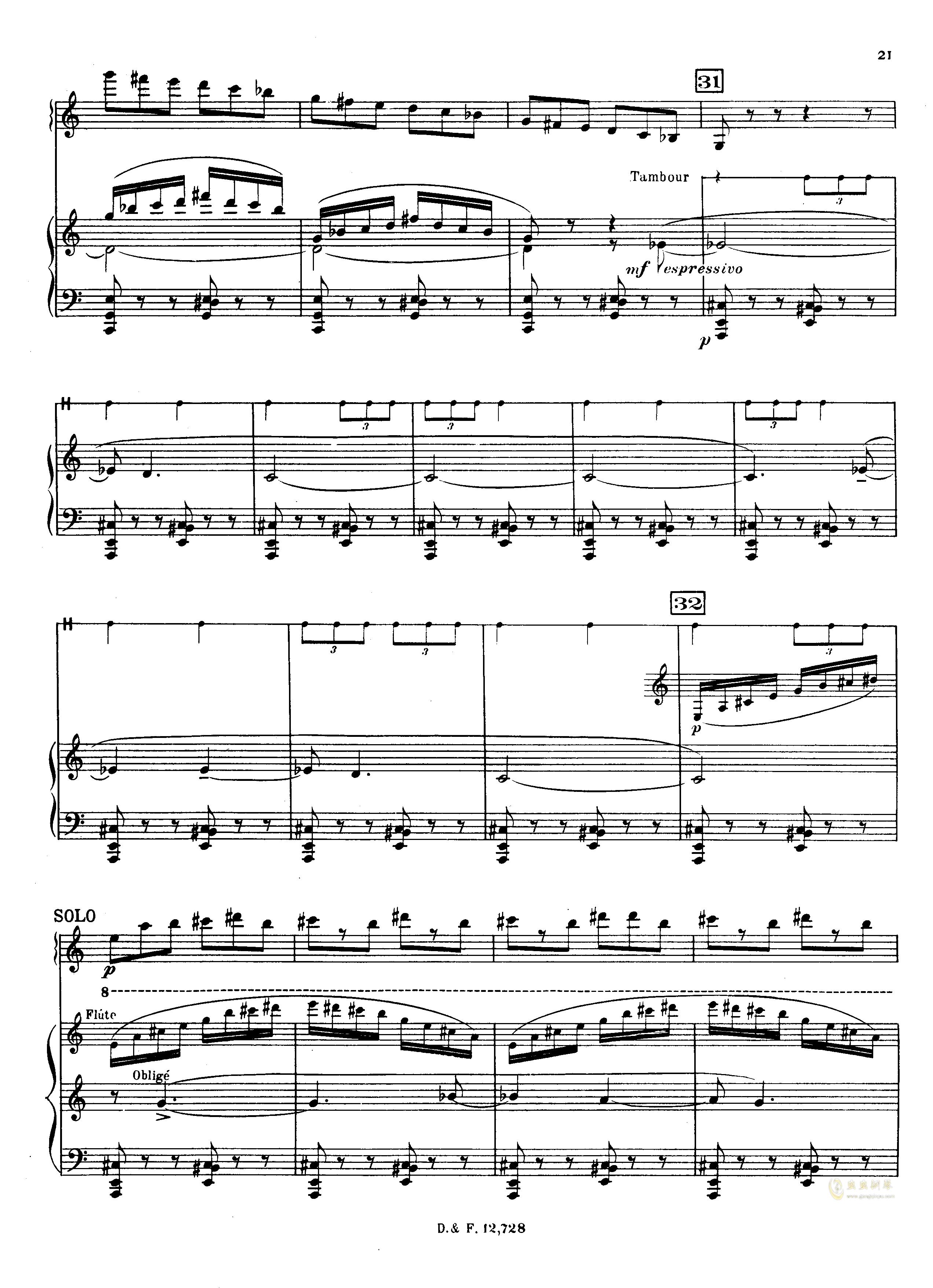 左手钢琴协奏曲钢琴谱 第21页