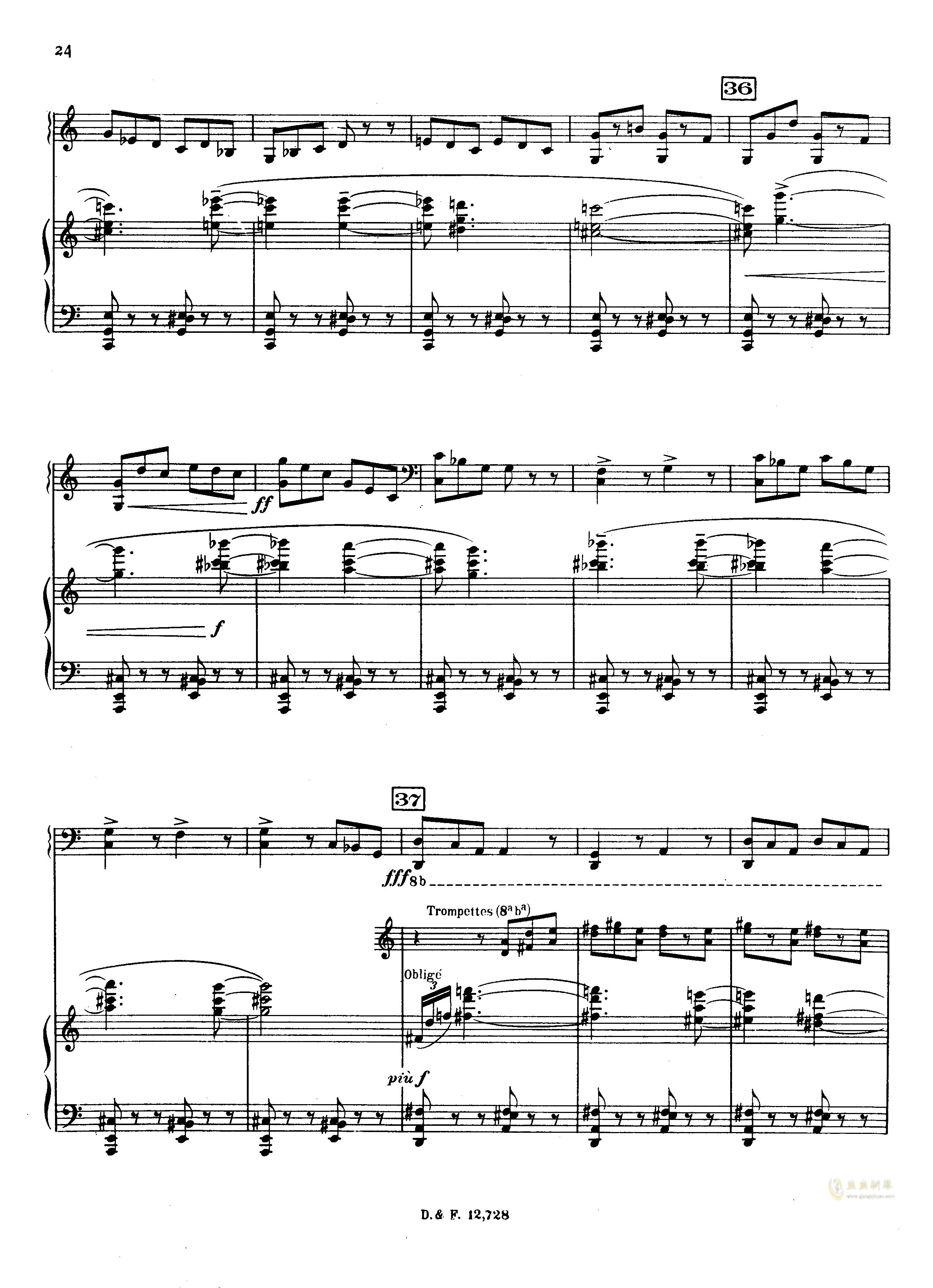 左手钢琴协奏曲钢琴谱 第24页