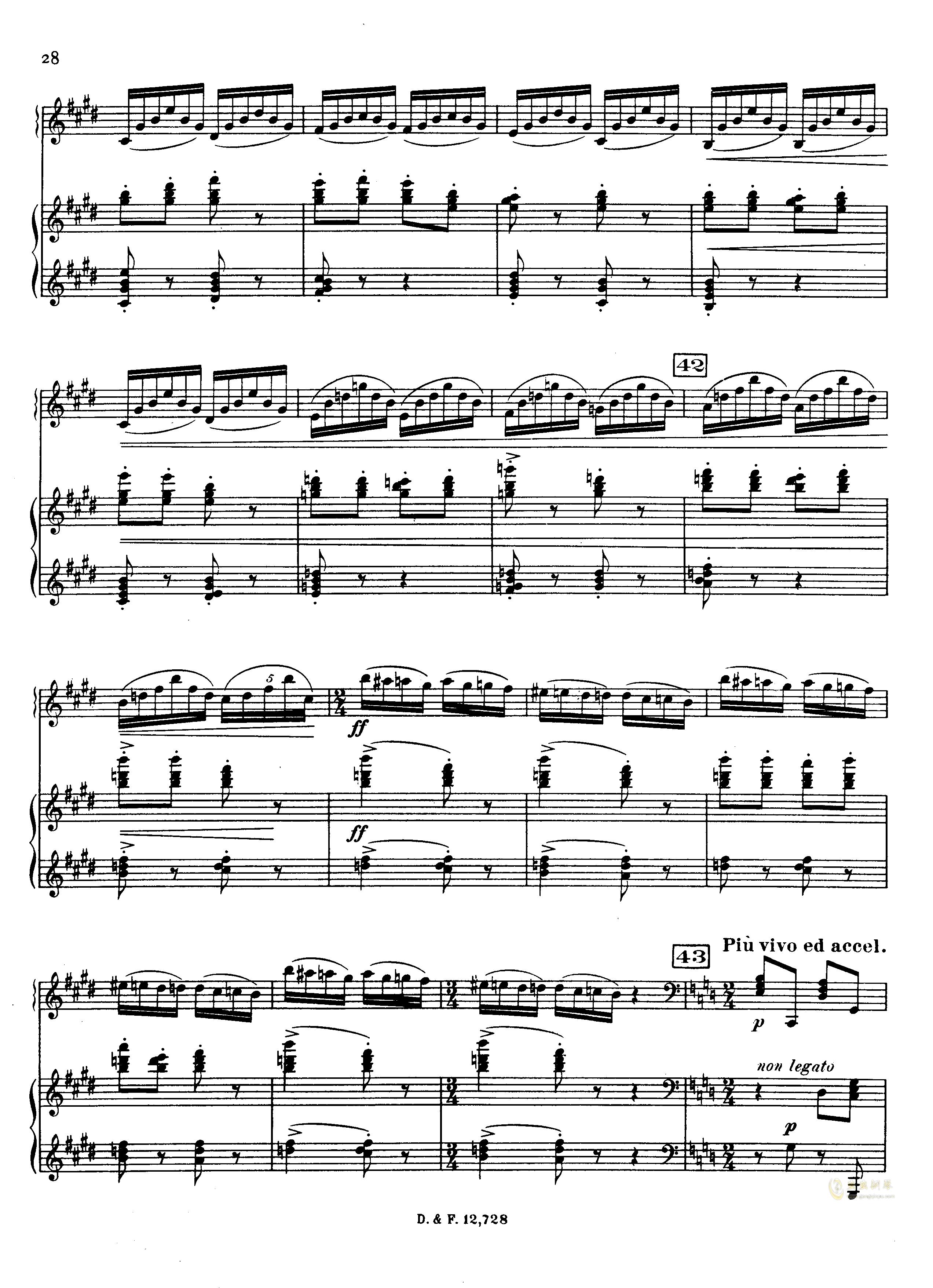 左手钢琴协奏曲钢琴谱 第28页