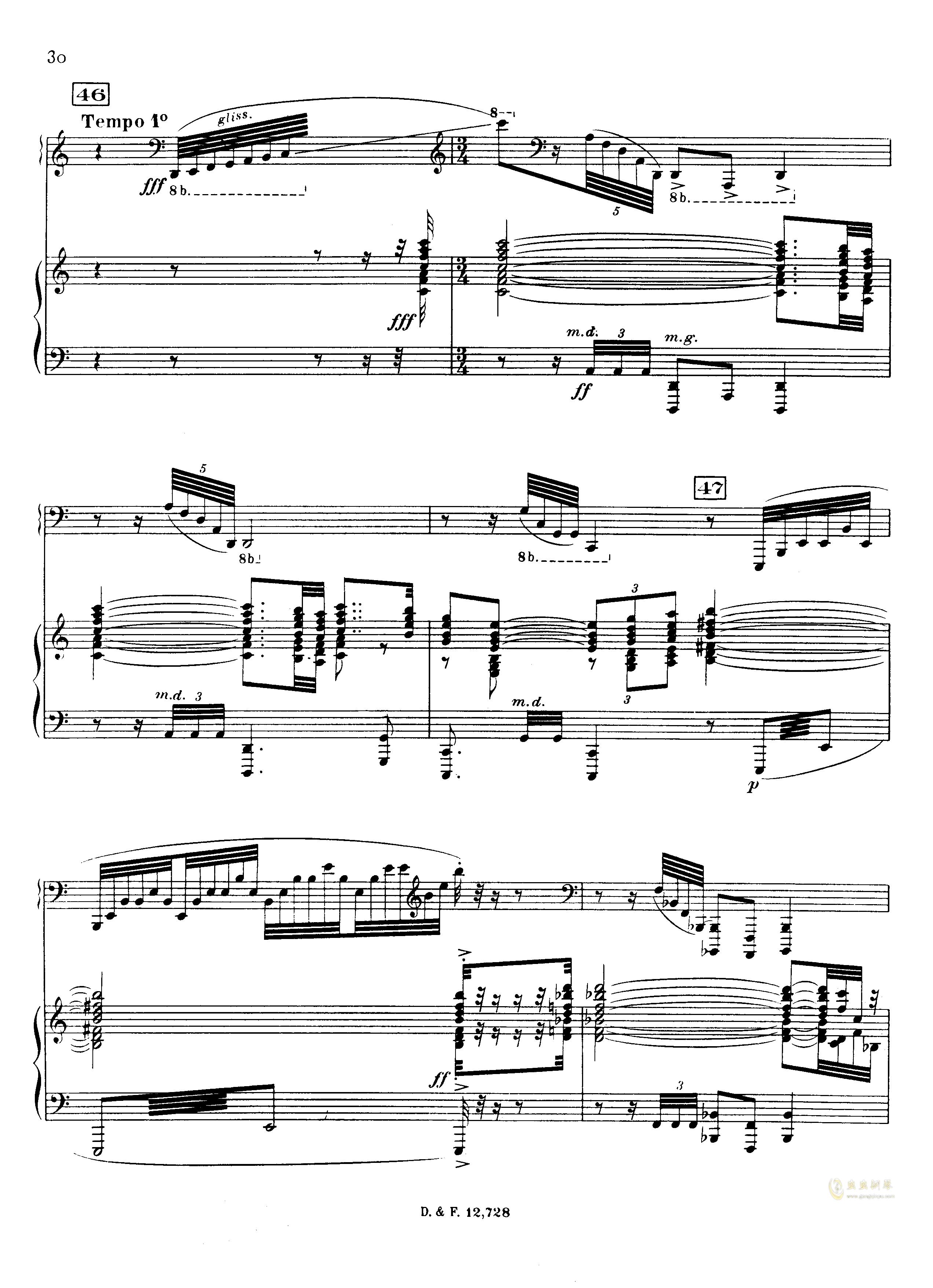 左手钢琴协奏曲钢琴谱 第30页