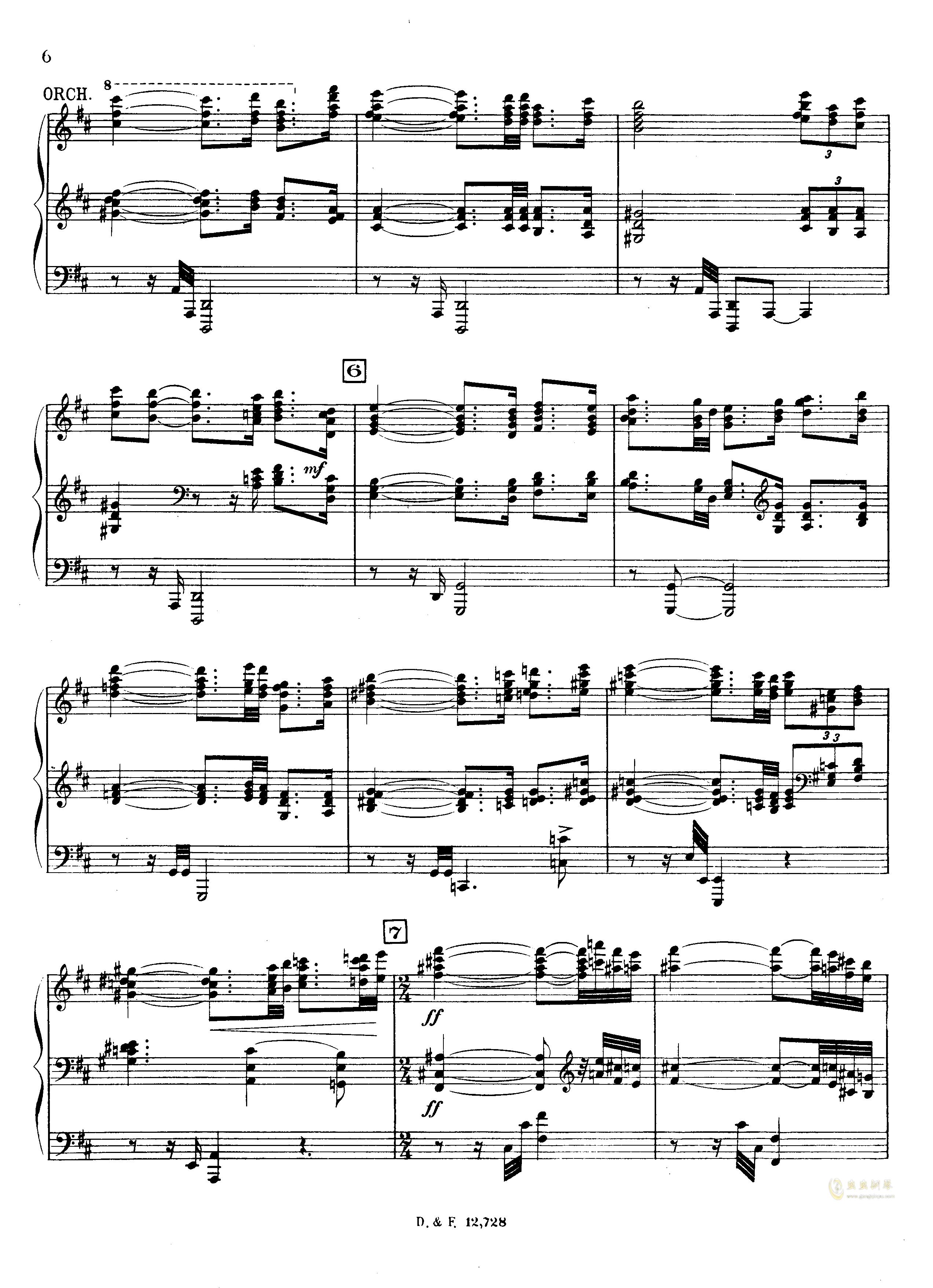 左手钢琴协奏曲钢琴谱 第6页