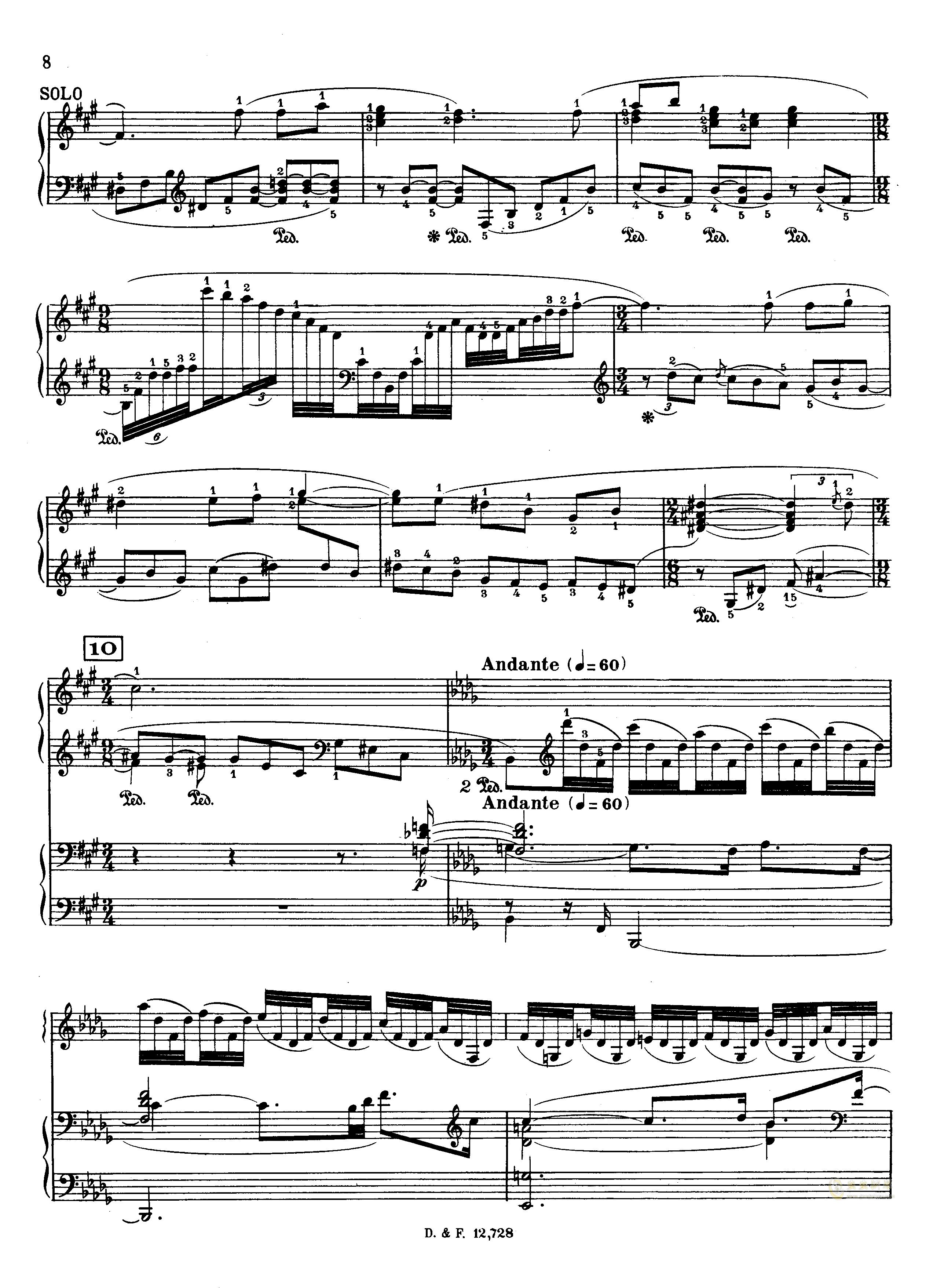 左手钢琴协奏曲钢琴谱 第8页