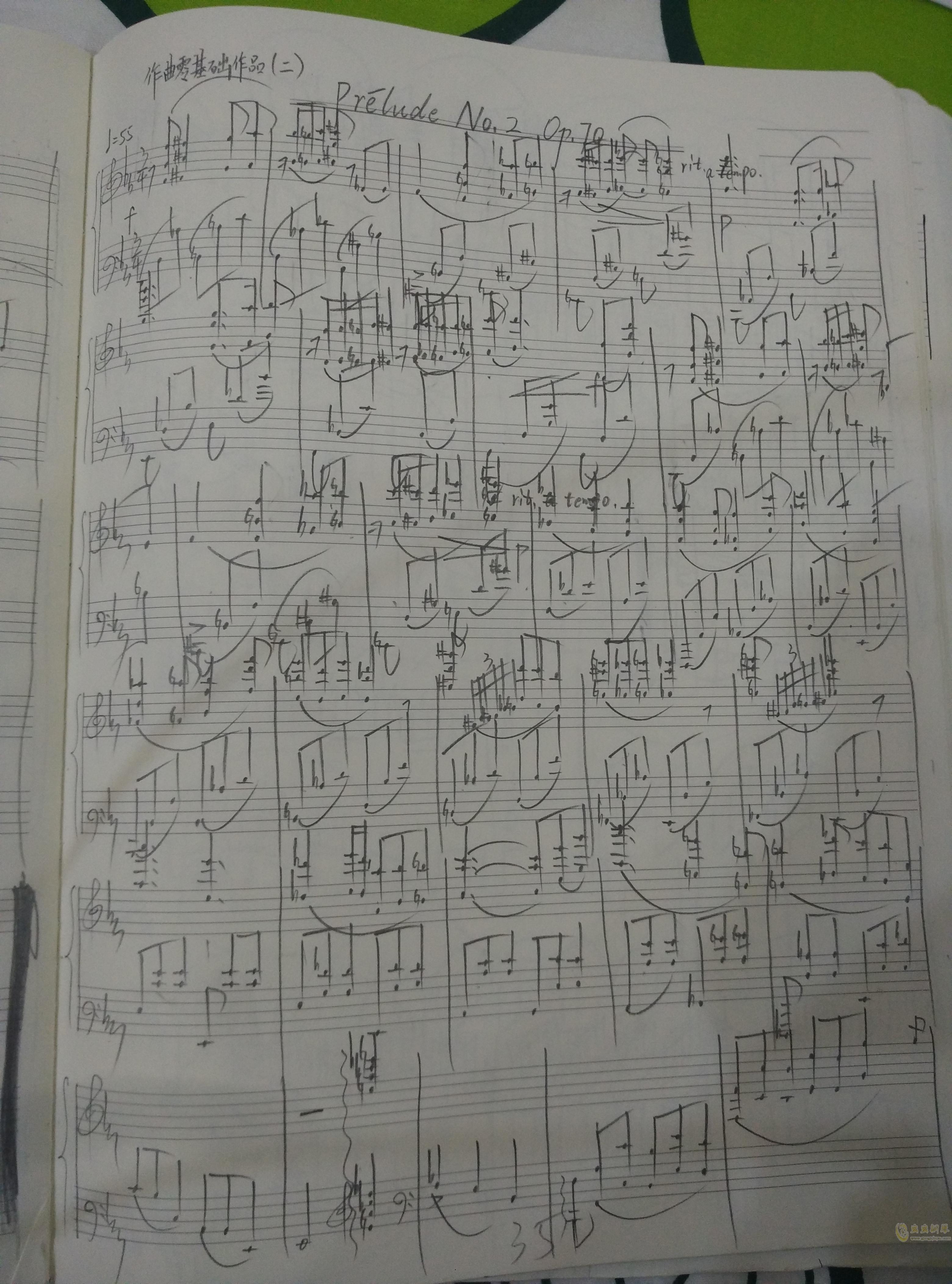 Prelude No.2, Op.70钢琴谱 第1页