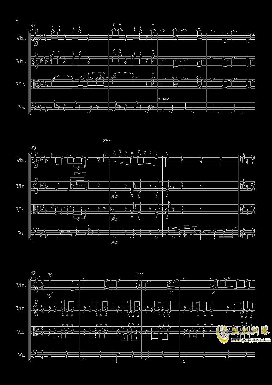 秋之四重奏钢琴谱 第4页