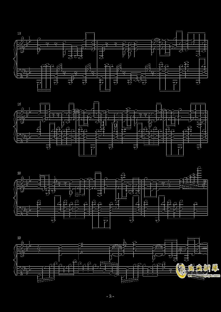 终结的炽天使钢琴谱 第2页