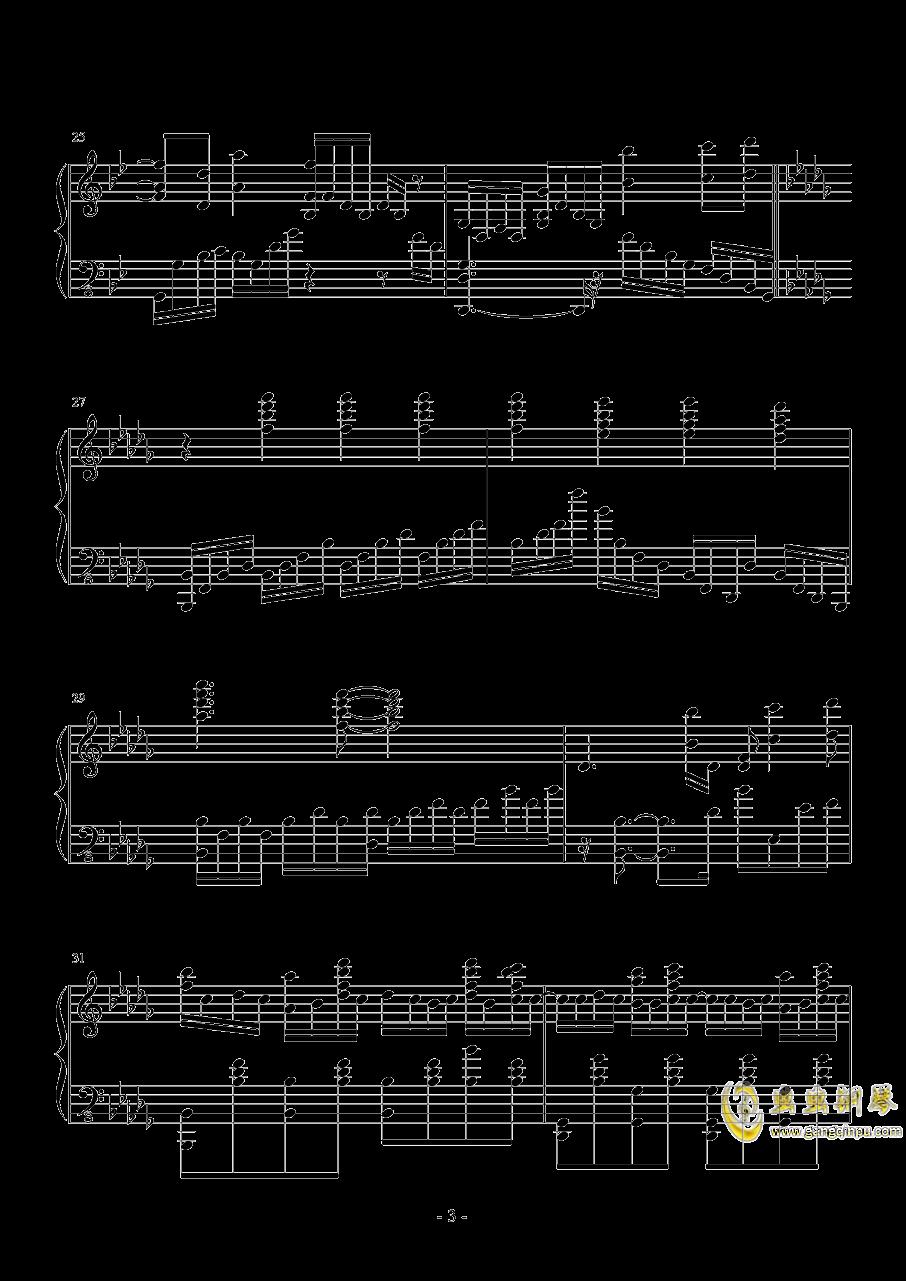 终结的炽天使钢琴谱 第3页