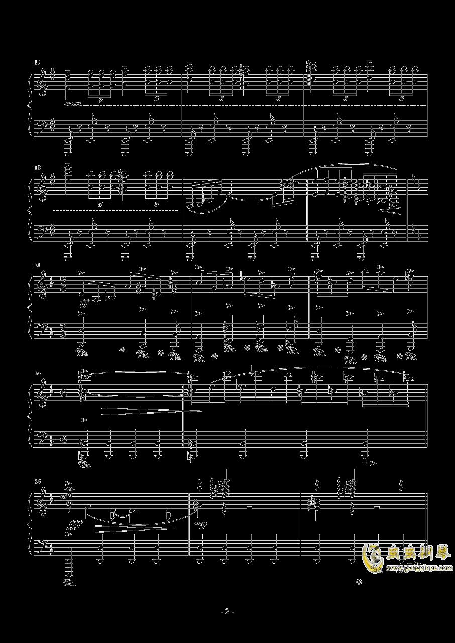 再临:单翼天使钢琴谱 第2页