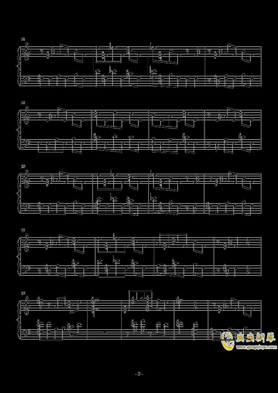 俄罗斯方块钢琴谱 第2页