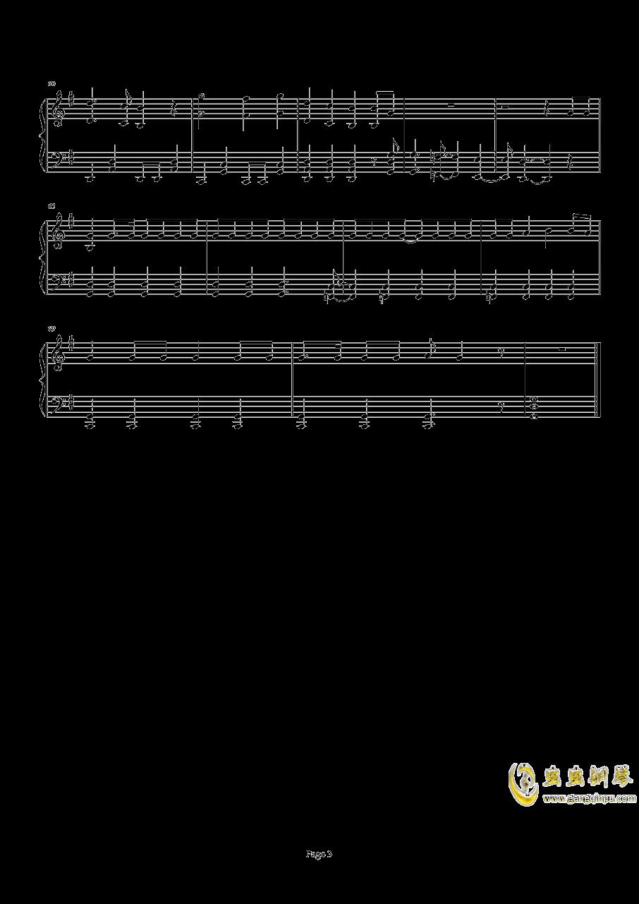 精灵宝可梦XY OP1 V钢琴谱 第3页
