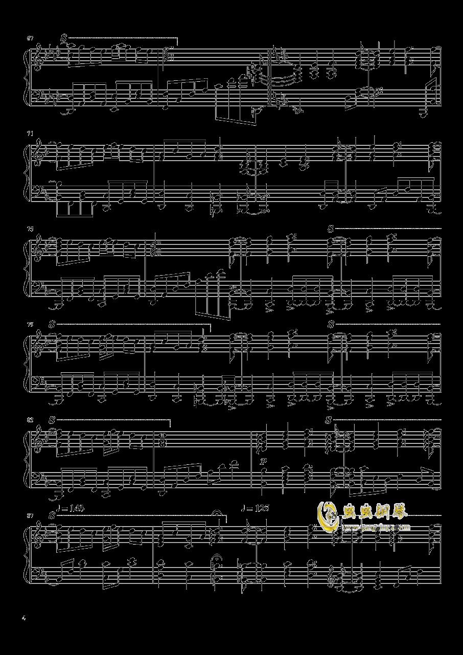 �|方妖々�簟�Ancient Temple钢琴谱 第4页