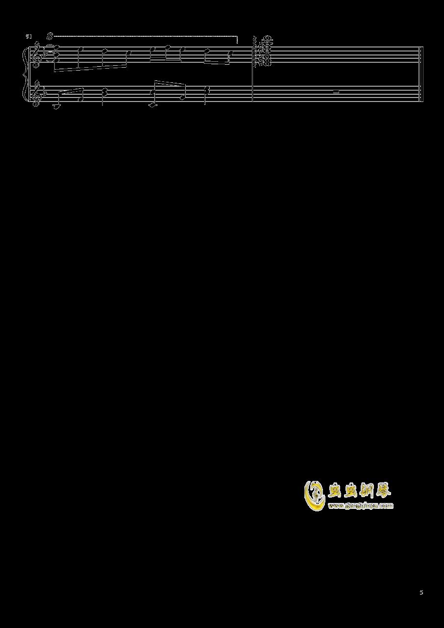 �|方妖々�簟�Ancient Temple钢琴谱 第5页