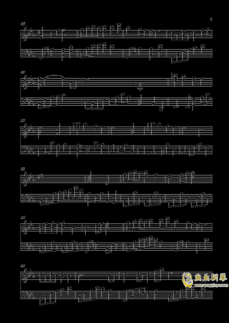 轻轻地告诉你钢琴谱 第3页