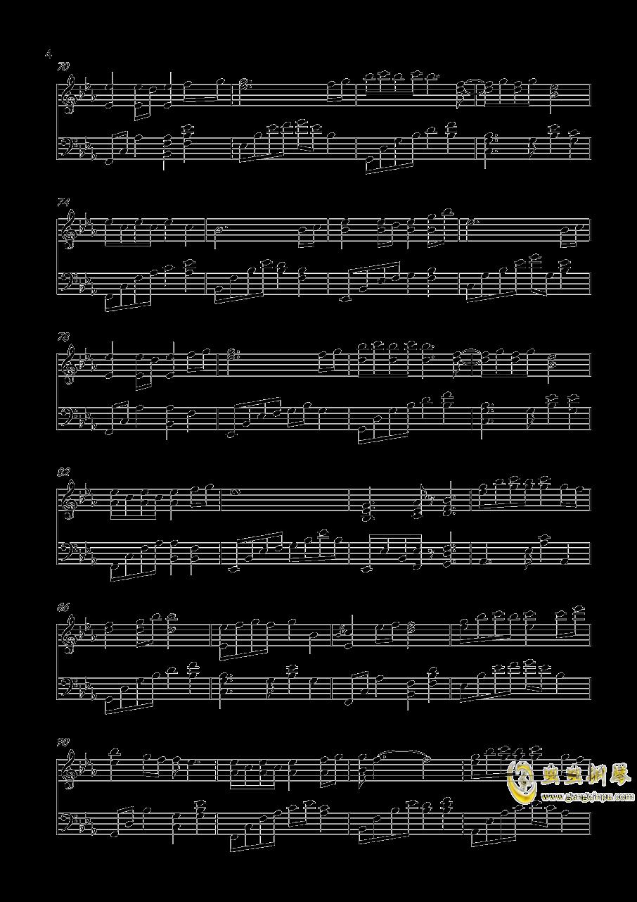 轻轻地告诉你钢琴谱 第4页