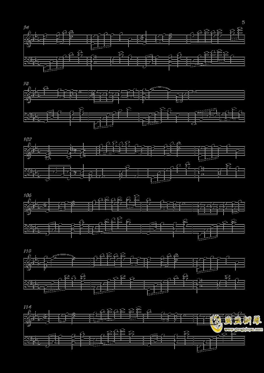 轻轻地告诉你钢琴谱 第5页