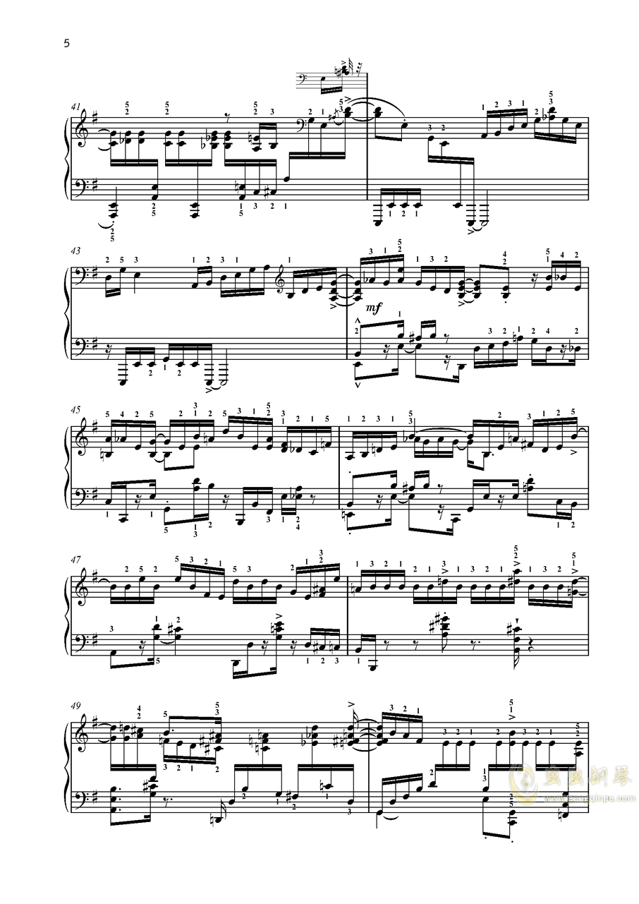 尼古拉斯凯帕斯汀 八首音乐会练习曲 Eight Concert 钢琴谱 第5页
